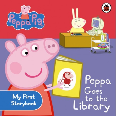 Peppa Pig goes to the library
