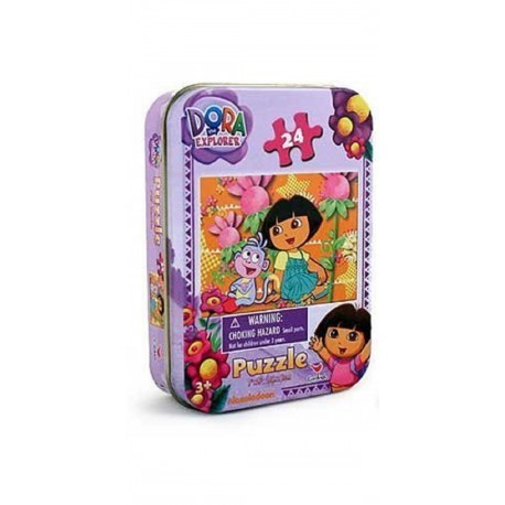 Dora the Explorer Jigsaw Puzzle in a Tin